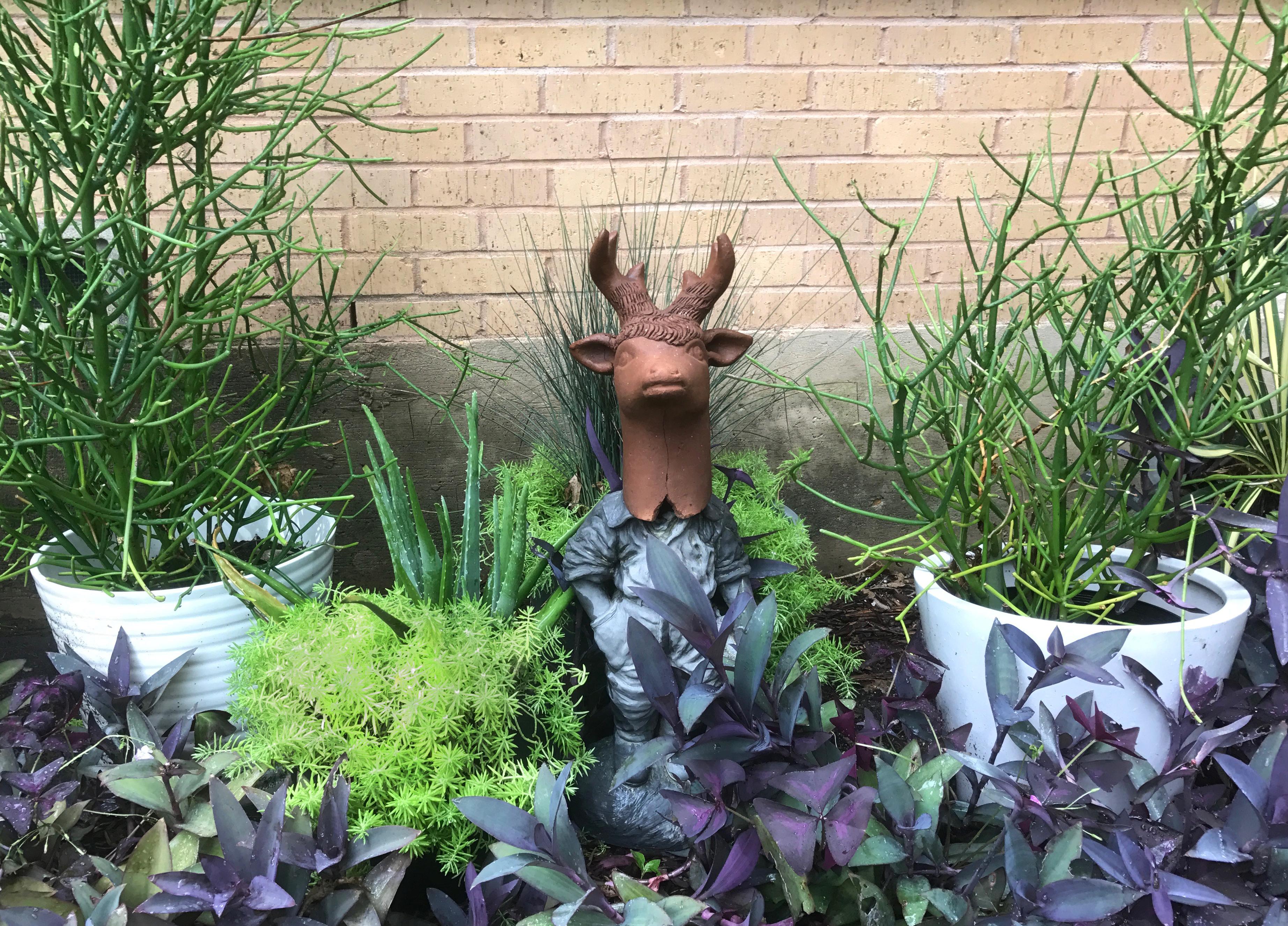 garden creature DIY www.trialbyinspiration.com